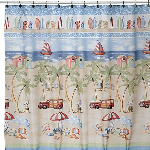 shower shower curtains beach bum 70 inch x 70 inch fabric shower