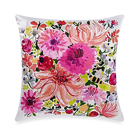 Kate spade new york eyelet medallion dahlia square throw for Bed bath and beyond kate spade