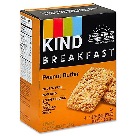 Kind 4-Pack Breakfast Bars in Peanut Butter - Bed Bath & Beyond