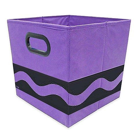 Buy crayola black serpentine storage bin in purple from for Purple bathroom bin