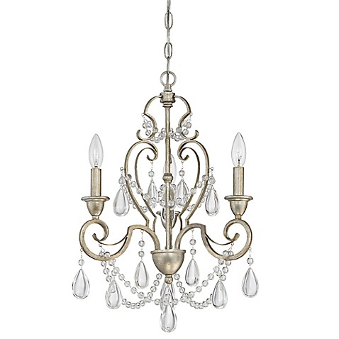 Quoizel riverton 3 light mini chandelier bed bath beyond for Bathroom decor riverton
