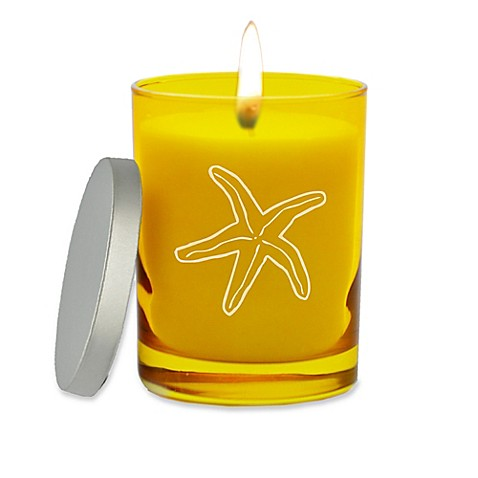 Carved Solutions Gem Collection Unscented Starfish Soy Wax Candle at Bed Bath & Beyond in Cypress, TX | Tuggl