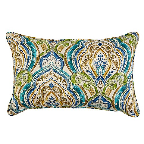 Indoor/Outdoor Throw Pillow in Avaco Blue at Bed Bath & Beyond in Cypress, TX | Tuggl