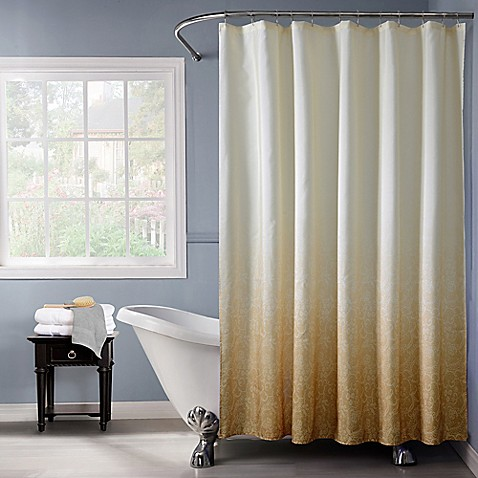 Buy Lace Ombr Shower Curtain In Gold From Bed Bath Beyond