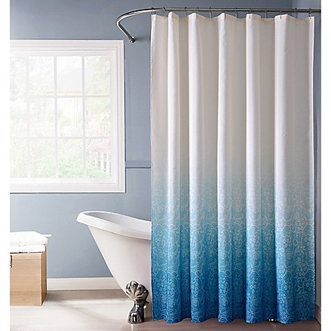 Buy Lace Ombr Shower Curtain In Blue From Bed Bath Beyond