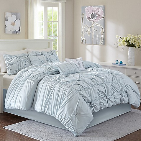 Madison 6-7-Piece Comforter Set in Aqua at Bed Bath & Beyond in Cypress, TX | Tuggl