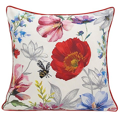 Buy Poppy Square Throw Pillow in Red from Bed Bath & Beyond