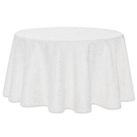 Buy Waterford 174 Linens Esmerelda 90 Inch Round Tablecloth