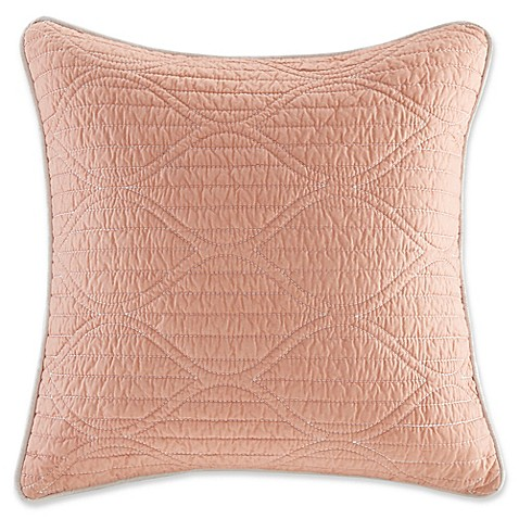 Solid Coral Throw Pillows : Harbor House 16-Inch x 16-Inch Seaside Coral Solid Throw Pillow in Coral - Bed Bath & Beyond