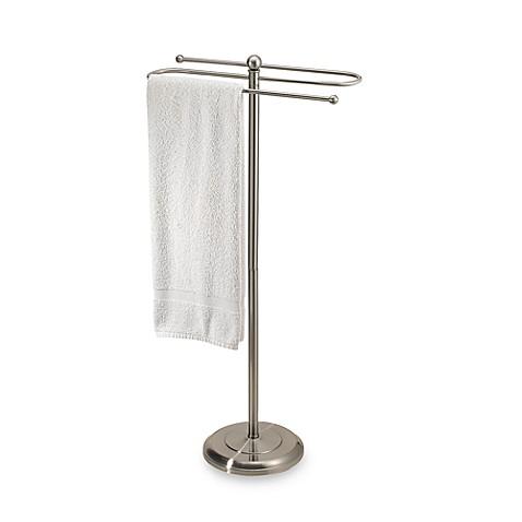 2 Tier Satin Nickel Towel Stand Bed Bath Amp Beyond