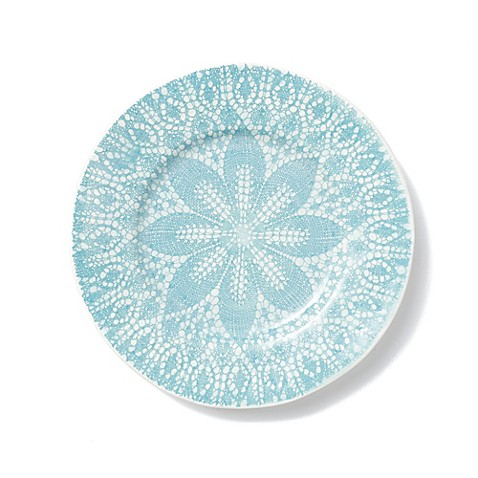 viva by vietri lace dinner plate in aqua bed bath beyond. Black Bedroom Furniture Sets. Home Design Ideas