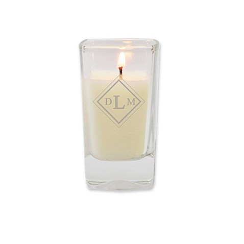 Carved Solutions Eco-Luxury Collection Diamond Soy Jar Candle in White | Tuggl