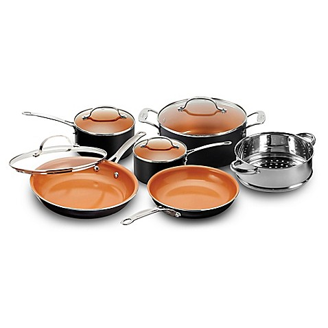 Gotham Steel Ti Cerama 10 Piece Cookware Set Bed Bath