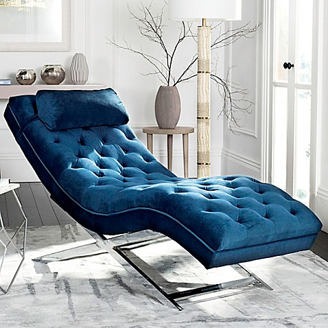 Safavieh Monroe Chaise Lounge with Headrest Pillow at Bed Bath & Beyond in Cypress, TX | Tuggl
