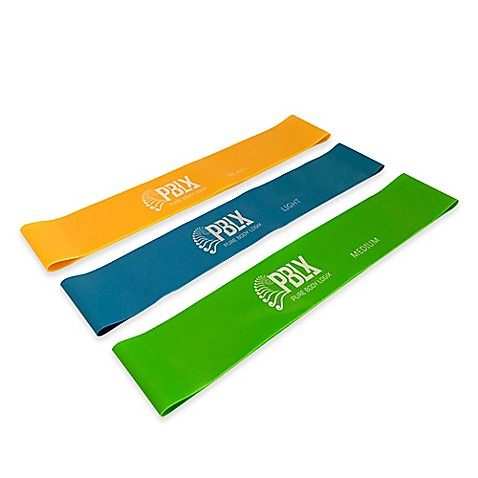 3-Piece Mini Resistance Bands Set with Workout Book at Bed Bath & Beyond in Cypress, TX | Tuggl
