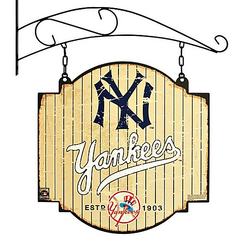 Buy mlb new york yankees tavern sign from bed bath beyond for Yankees bathroom decor