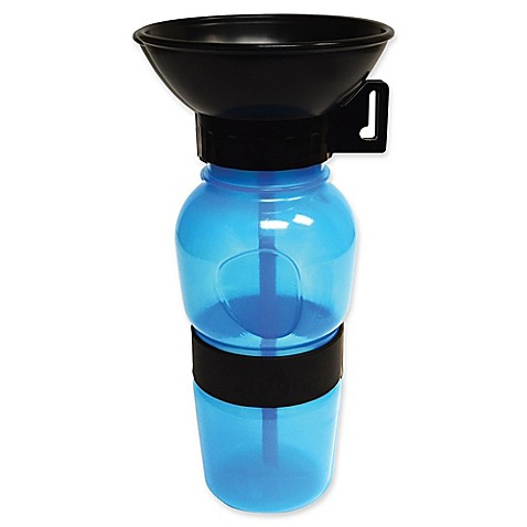 Aqua Dog Travel Water Bowl Bottle in Aqua - Bed Bath & Beyond