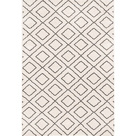 Frieze Shag Area Rug in Ivory at Bed Bath & Beyond in Cypress, TX | Tuggl