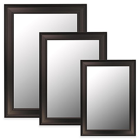 Hitchcock Butterfield Ceylon Bevel Edge Wall Mirror In Black Bed Bath Beyond