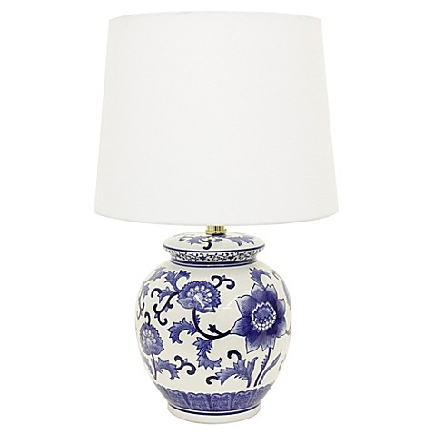 Jimco Ceramic Table Lamp In Blue White Bed Bath Amp Beyond