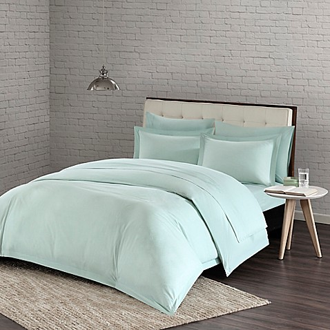 buy urban habitat comfort wash twin twin xl duvet cover set in aqua from bed bath beyond. Black Bedroom Furniture Sets. Home Design Ideas