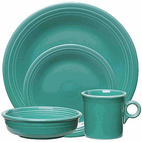 Fiesta® Dinnerware Collection in Turquoise at Bed Bath & Beyond in Cypress, TX   Tuggl