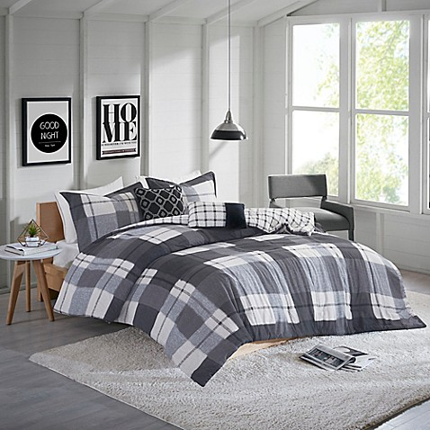 Clint Flannel Comforter Set by Bed Bath And Beyond