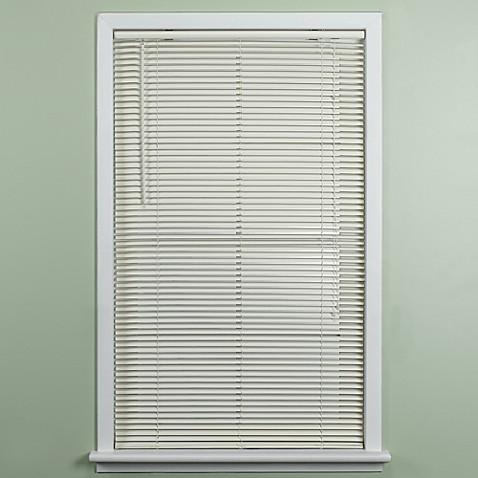 Deluxe sundown 1 inch room darkening mini blind in for 2 inch window blinds