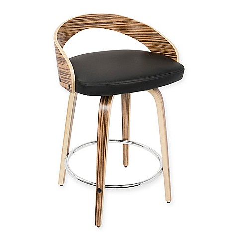 Buy Lumisource Grotto Mid Century Modern Counter Stool In
