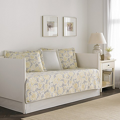 Laura Ashley 174 Joy Daybed Bedding Set In Grey Yellow Bed