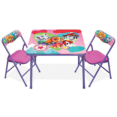 Kids Furniture Nickelodeon Paw Patrol 3 Piece Activity