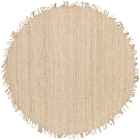Buy chikaro 8 foot round area rug in cream from bed bath for Where to buy round rugs