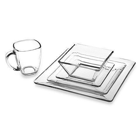 Libbey® Tempo Square Glass Dinnerware at Bed Bath & Beyond in Cypress, TX | Tuggl