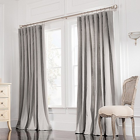 Valeron Estate Rod Pocket Insulated Double Width Window Curtain Panel Bed Bath Beyond