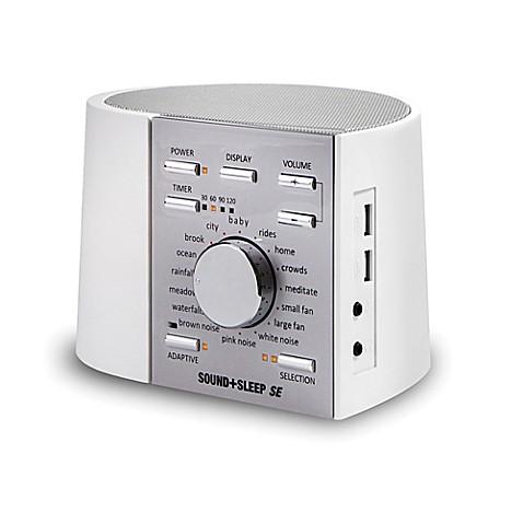 Sound+Sleep SE Sound Machine in White/Silver | Tuggl