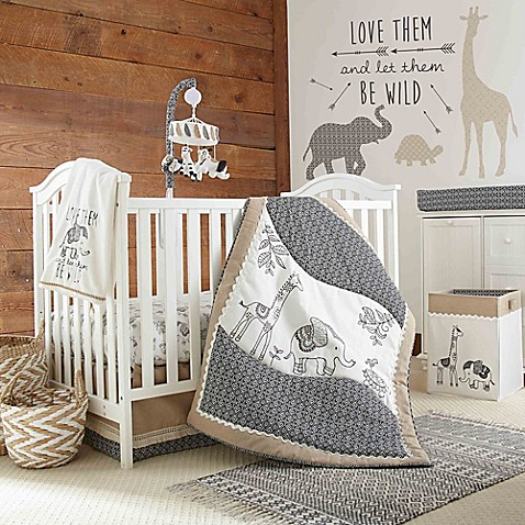 Levtex 174 Baby Animal Sketch Crib Bedding Collection Bed