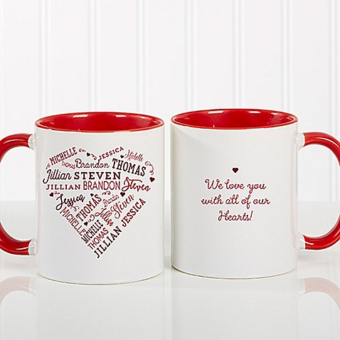 Close to Her Heart 11 oz. Coffee Mug in Red at Bed Bath & Beyond in Cypress, TX | Tuggl