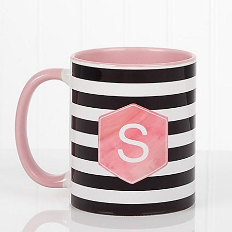 Modern Stripe 11 oz. Coffee Mug in Pink at Bed Bath & Beyond in Cypress, TX | Tuggl