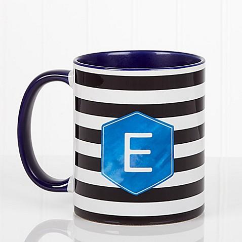 Modern Stripe 11 oz. Coffee Mug in Blue at Bed Bath & Beyond in Cypress, TX | Tuggl