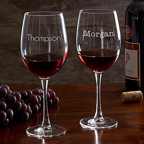 Classic Celebrations 19.25 oz. Red Wine Glass with Name at Bed Bath & Beyond in Cypress, TX | Tuggl
