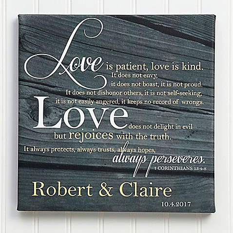 Love is Patient Canvas Print at Bed Bath & Beyond in Cypress, TX | Tuggl
