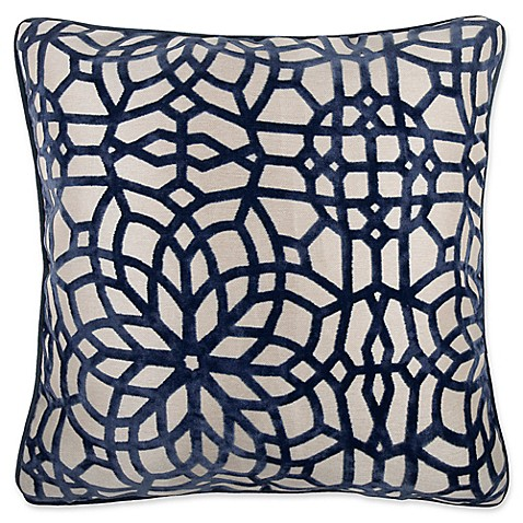 Make-Your-Own-Pillow Cervella Velvet Square Throw Pillow Cover at Bed Bath & Beyond in Cypress, TX | Tuggl