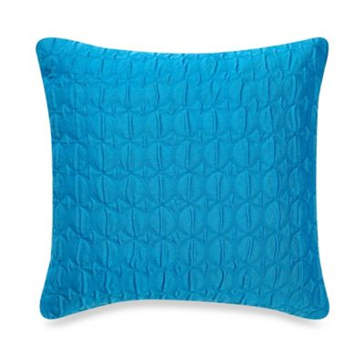 Buy Make-Your-Own-Pillow Ogee Quilt Square Throw Pillow Cover in Bright Teal from Bed Bath & Beyond