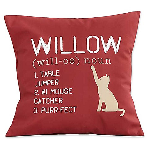 Decorative Pillows > Definition of My Cat Keepsake 18-Inch Square Throw Pillow from Buy Buy Baby