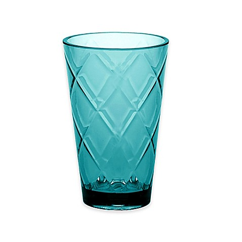 Certified International Diamond Iced Tea Glasses in Teal (Set of 8) at Bed Bath & Beyond in Cypress, TX | Tuggl