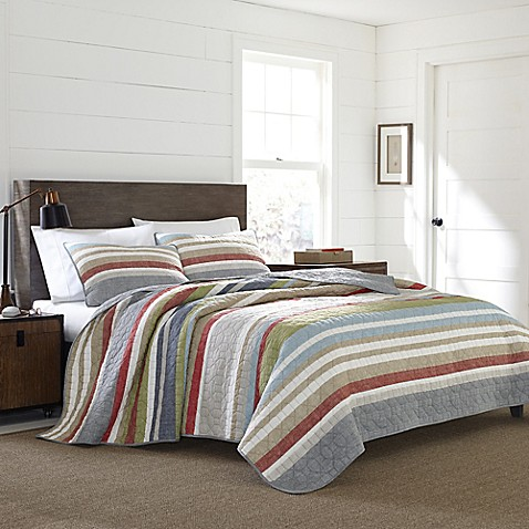 Eddie Bauer® Salmon Ladder Stripe Quilt Set at Bed Bath & Beyond in Cypress, TX | Tuggl