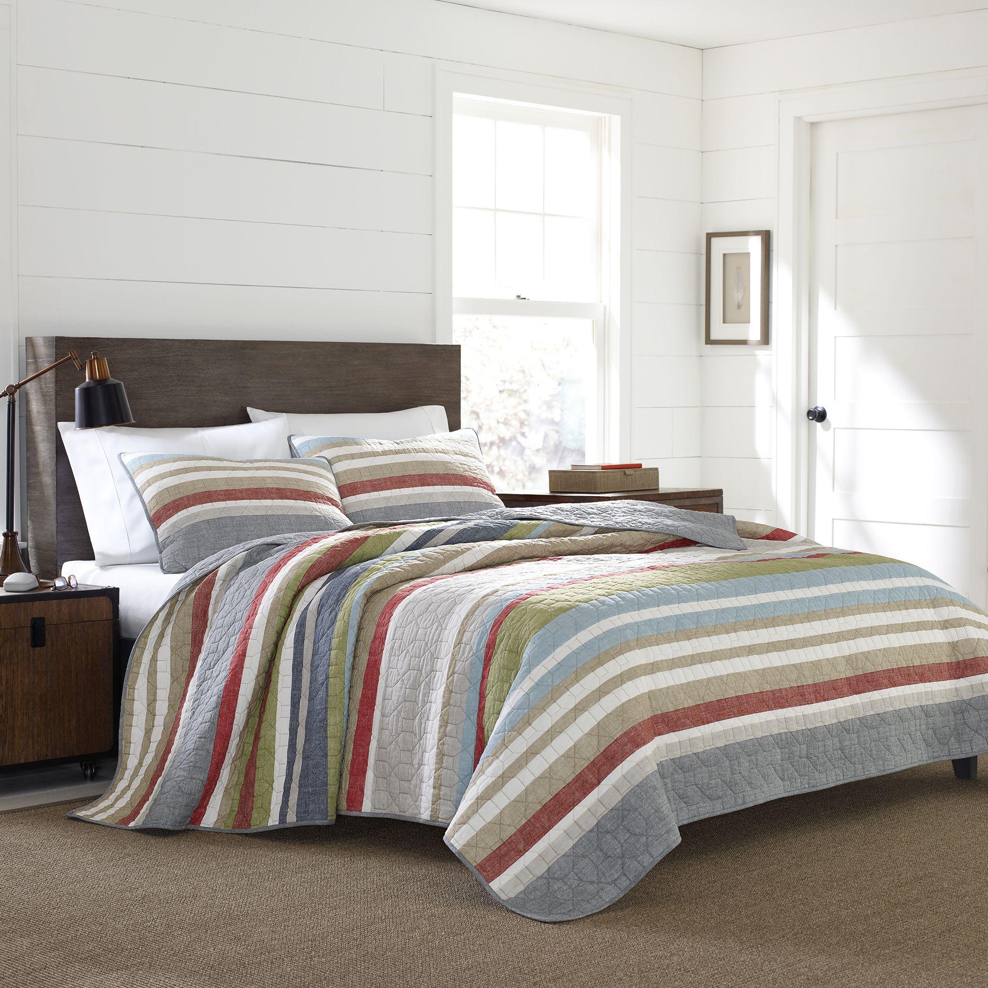 Eddie Bauer® Salmon Ladder Stripe Quilt Set by Bed Bath And Beyond