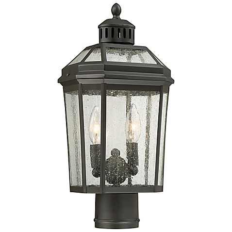 the great outdoors by minka lavery hawk s point post mount lantern