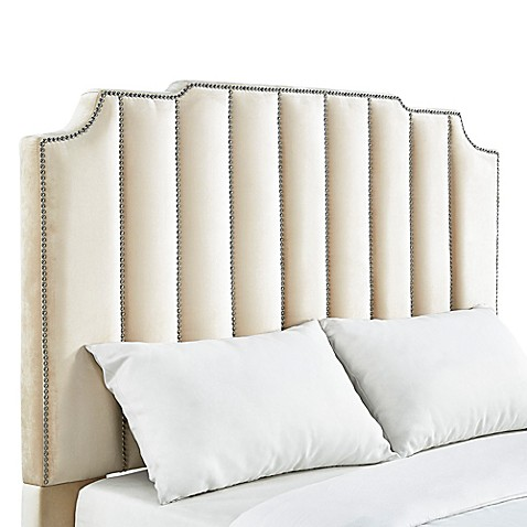 Verona Home Liza Art Deco Velvet Headboard at Bed Bath & Beyond in Cypress, TX | Tuggl