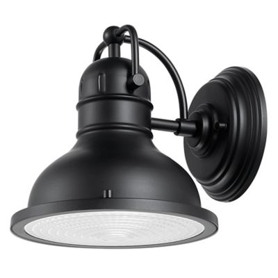 Indoor Electric Wall Sconces : Globe Electric Harbor 1-Light Indoor/Outdoor Wall Sconce in Matte Black - Bed Bath & Beyond